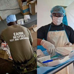 Image credit: (left) Sgt. Adam Fischman, US Army Africa & (right) Sterling Riber, MFDI for Jhpiego/Tanzania.