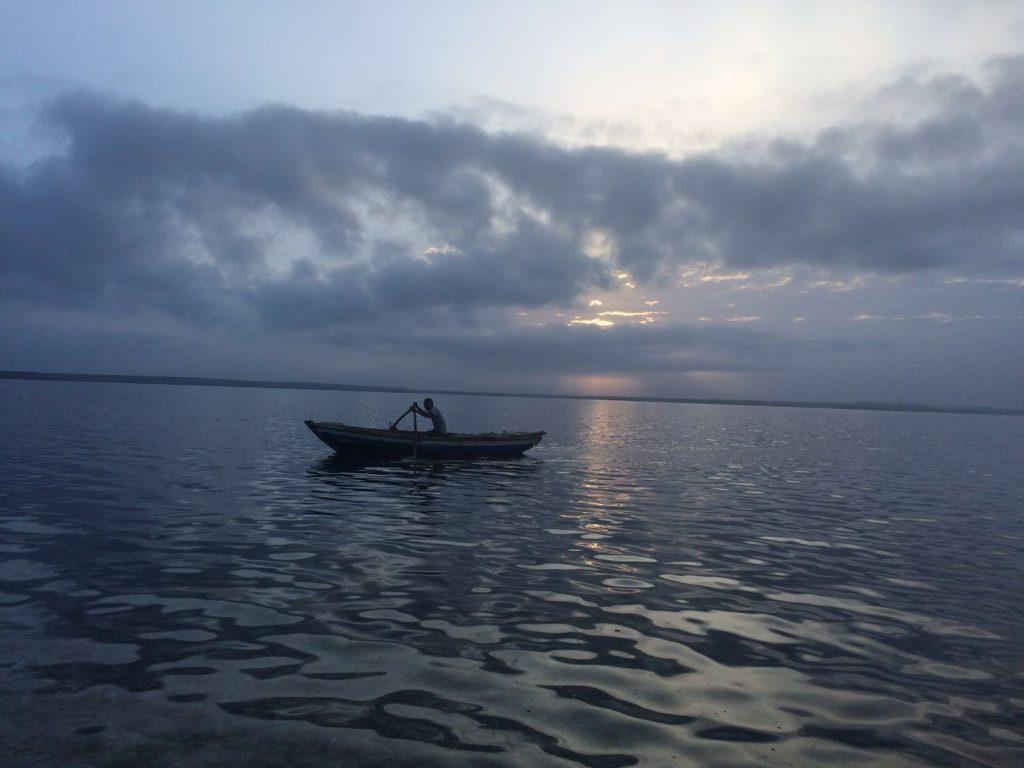 Lone Haitian Fisherman at Local Military Fort Image Credit: Alex Lukas