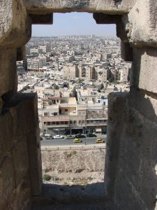 Modern Aleppo as viewed from the the ancient Citadel. Image credit: watchsmart, via Flickr