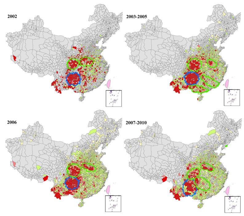 Wang L-Y, Zhang W-Y, Ding F, Hu W-B, Soares Magalhaes RJ, et al. (2013). PLoS Negl Trop Dis 7(6): e2285. doi:10.1371/journal.pntd.0002285